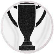 Symbol Achievement Round Beach Towel