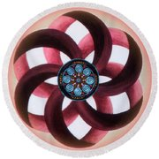 Synergy Mandala 3 Round Beach Towel