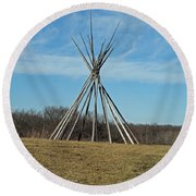 Tee Pee Round Beach Towel