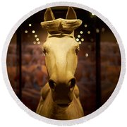 Terracotta Soldiers. The Horse Round Beach Towel