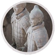 Terracotta Warriors, China Round Beach Towel
