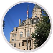 Terre Haute Indiana - Courthouse Round Beach Towel