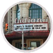 Terre Haute - Indiana Theater Round Beach Towel