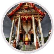 Thai Temple Round Beach Towel