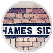 Thames Side Round Beach Towel