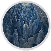 The Angels In The Planet Mercury Round Beach Towel