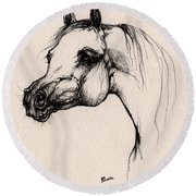 The Arabian Horse Round Beach Towel