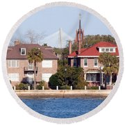 The Battery Round Beach Towel