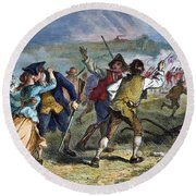 The Battle Of Concord, 1775 Round Beach Towel