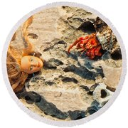 The Beauty And The Beast Round Beach Towel