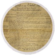 The Bill Of Rights, 1789 Round Beach Towel