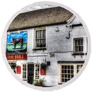 The Bull Pub Theydon Bois Essex Round Beach Towel