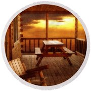 The Cabin Round Beach Towel