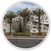 The Cleveland Clinic Lou Ruvo Center For Brain Health By Archite Round Beach Towel