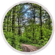 The Forest Path Round Beach Towel