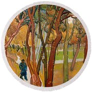 The Garden Of Saint Paul's Hospital Round Beach Towel