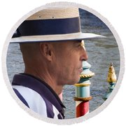 The Gondolier Round Beach Towel