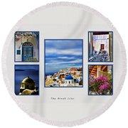 The Greek Isles Round Beach Towel
