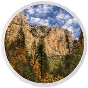The Hills Of Sedona  Round Beach Towel