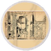 The Liberty Bell Round Beach Towel