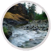 The Little Rattlesnake River Round Beach Towel