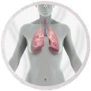 The Lungs Female Round Beach Towel