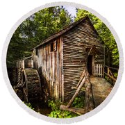 The Mill At Cades Cove Round Beach Towel