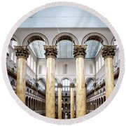 The National Building Museum In Washington Dc Usa Round Beach Towel