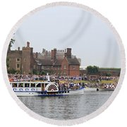 The Olympic Torch Leaves Hampton Court On The Final Leg Of Its J Round Beach Towel