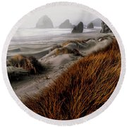 The Oregon Coast  Round Beach Towel