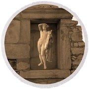 The Palaestra - Apollo Sanctuary Round Beach Towel