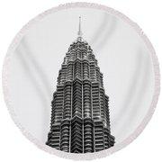 The Petronas Towers Round Beach Towel