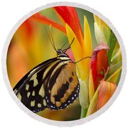The Postman Butterfly Round Beach Towel