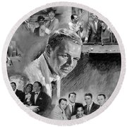 The Rat Pack  Round Beach Towel