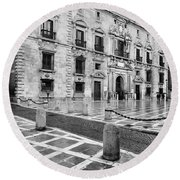 The Royal Chancery Of Granada Round Beach Towel