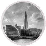 The Shard And City Hall Round Beach Towel