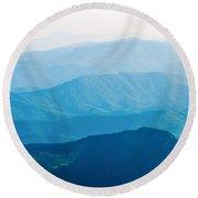 The Simple Layers Of The Smokies At Sunset - Smoky Mountain Nat. Round Beach Towel