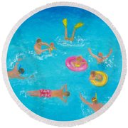 The Swimmers Round Beach Towel