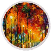 The Symphony Of Light Round Beach Towel