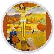 The Yellow Christ Round Beach Towel