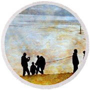 They Gather Here Round Beach Towel by Diana Angstadt