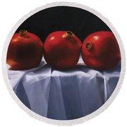 Three Pomegranates Round Beach Towel
