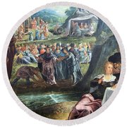 Tintoretto's The Worship Of The Golden Calf Round Beach Towel