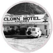 Tonopah Nevada - Clown Motel Round Beach Towel