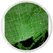 Toronto Street Map - Toronto Canada Road Map Art On Colored Back Round Beach Towel