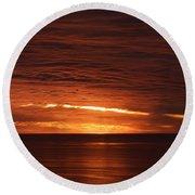 Torrey Pines Sunset Round Beach Towel