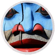 Totem 3 Round Beach Towel
