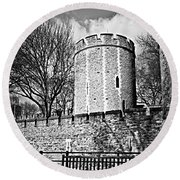 Tower Of London Round Beach Towel by Elena Elisseeva