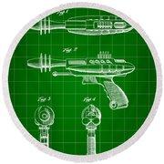 Toy Ray Gun Patent 1952 - Green Round Beach Towel