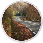 Transfagarasan Road Carpathian Mountains Romania  Round Beach Towel